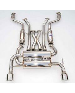 Invidia Gemini Cat-Back Exhaust System with Stainless Steel Rolled Tip