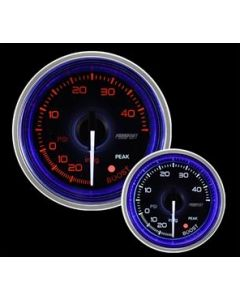 """ProSport 2-1/16"""" Crystal Series Blue/White Electric Boost gauge"""
