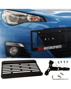 Ikon Motorsport Scion FRS Subaru BRZ WRX STI Impreza Towhook License Plate Relocation Kit