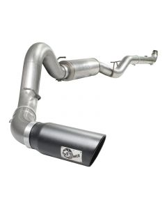 aFe MACHForce XP Exhausts Turbo-Back SS-409 EXH TB GM Diesel Trucks 07.5-10 V8-6.6L (td) (blk tip)