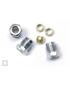 Full Bore Race Products 9081K-CHR Stromberg Ford Nut Compression Fittings