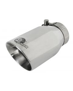 aFe MACH Force-Xp Universal 304 SS Single-Wall Clamp-On Exhaust Tip - Polished