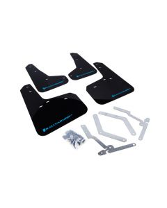 Rally Armor 2012+ Ford Focus, ST, RS Mud Flaps - BLK/LBLU