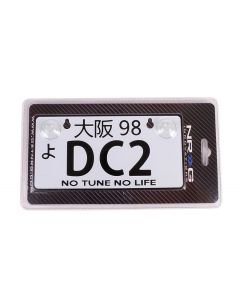 NRG Innovations JDM Mini License Plate - DC2