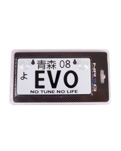 NRG Innovations JDM Mini License Plate - EVO