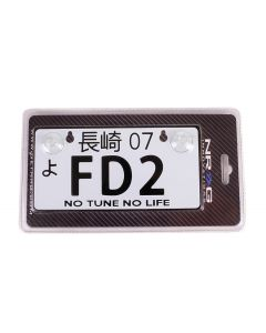 NRG Innovations JDM Mini License Plate - FD2