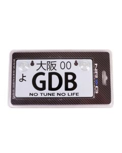 NRG Innovations JDM Mini License Plate - GDB