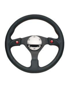 NRG Innovations Reinforced Steering Wheel- 320mm Sport Steering Wheel w/ Dual T