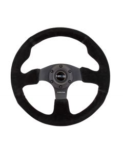 NRG Innovations RACE STYLE - Suede Steering Wheel 320mm w/ BLACK stitch