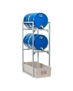 LIQUI MOLY Drum Rack For 2 x 60L Drums w/ Oil Drip Pan