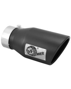 aFe Power Gas Exhaust Tip Black- 3 in In x 4.5 out X 9 in Long Bolt On (Black)