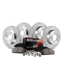 Power Stop 1-Click Z23 Evolution Sport Drilled and Slotted Front and Rear Brake Kit