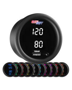GlowShift 10 Color Digital Dual Temperature & Pressure Gauge