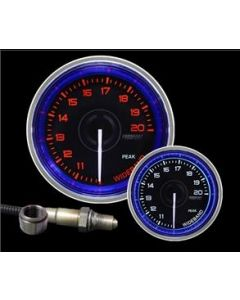 "ProSport 2-1/16"" Crystal Blue/White Wideband Air Fuel Ratio kit"