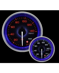 "ProSport 2-1/16"" Crystal Blue/White Oil Pressure Gauge"