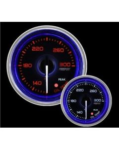"ProSport 2-1/16"" Crystal Blue/White Oil Temperature Gauge"