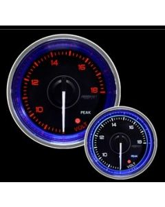 "ProSport 2-1/16"" Crystal Blue Electrical Volt Gauge"