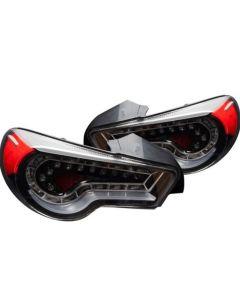 Winjet Black Fiber Optic LED Tail Lights