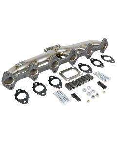 aFe Twisted Steel Header Turbo Manifold (T4) 98.5-02 Dodge Diesel Trucks L6 5.9L (td)