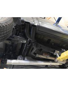 aFe Rebel DPF-Back 409 SS Exhaust System w/Dual Black Tips 18-19 Ford F-150 V6 3.0L (td)
