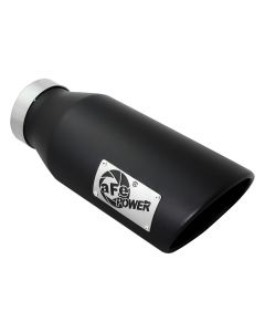 aFe Power MACH Force-Xp 4in In x 6in Out x 15in L Driver Side Clamp-On 4in 409 SS Exhaust Tip-Black