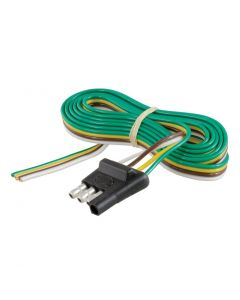 Curt 4-Way Flat Connector Plug w/48in Wires (Trailer Side Packaged)