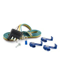 Curt 4-Way Flat Connector Plug w/48in Wires & Hardware (Trailer Side Packaged)
