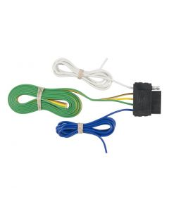 Curt 5-Way Flat Connector Socket w/60in Wires (Vehicle Side)