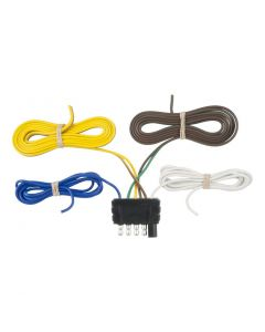 Curt 5-Way Flat Connector Plug w/48in Wires (Trailer Side)