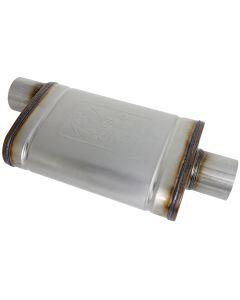 aFe MACHForce XP SS Muffler 3in Center Inlet / 3in Outlet 9in L x 4in W x 14in Body