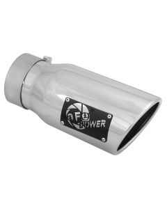 aFe MACH Force-Xp 3in Inlet x 4in Outlet x 9in Length 304 Stainless Steel Exhaust Tip Polished