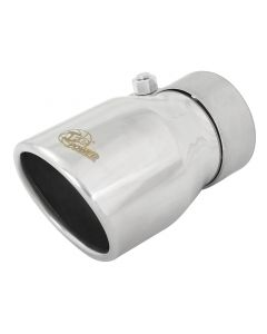 aFe MACH Force-Xp 2.5in Inlet x 3-1/2in Outlet x 6in Length 2.5in 304 Stainless Steel Exhaust Tip