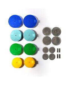 Silicon Purge Plugs, TIG Aesthetics by Ticon EXHAUST KIT 2.5″-4″