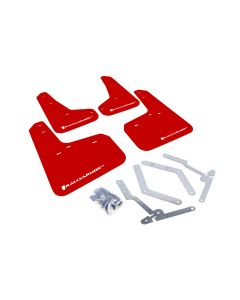 Rally Armor 2012+ Ford Focus, ST, RS Red Mud Flaps - RD/WHT