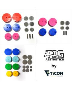Silicon Purge Plugs, Tig Aasthetics by Ticon FULL KIT ( Manifold, Header and Exhaust)