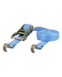 Curt 15ft Light Blue Cargo Strap w/J Hooks (3000lbs)