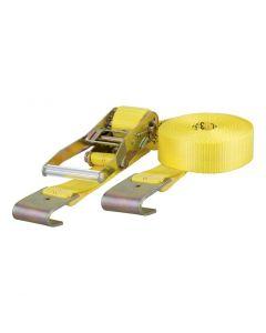 Curt 27ft Yellow Cargo Strap w/Flat Hooks (3333lbs)