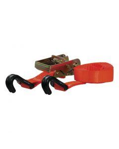 Curt 16ft Orange Cargo Strap w/J-Hooks (1100lbs)