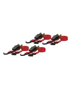 Curt 16ft Red Cargo Straps w/S-Hooks (500lbs 4-Pack)