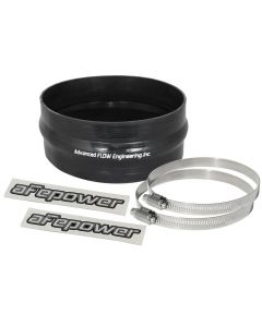 aFe Magnum FORCE CAI Univ. Silicone Coupling Kit (6-1/4in. ID / 2-3/4in. L) Straight w/Hump - Black